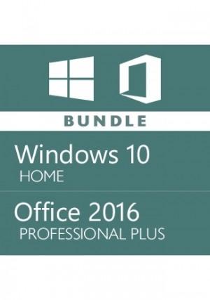 Microsoft Windows 10 Home + Office 2016 Pro - Bundle
