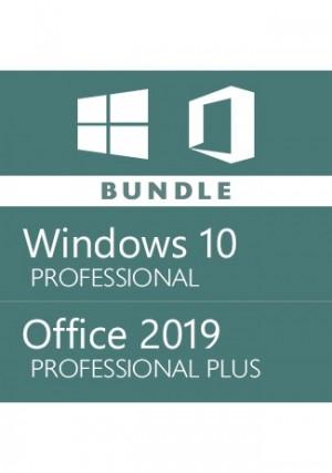 Microfost Windows 10 Pro + Office 2019 Pro - Bundle