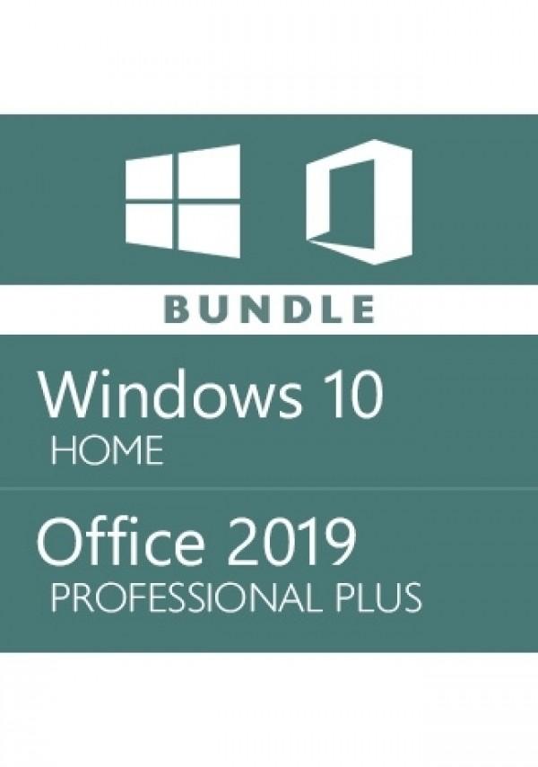 Microsoft Windows 10 Home + Office 2019 Pro - Bundle