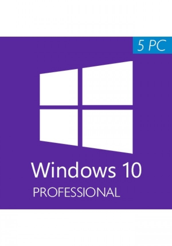 Windows 10 Pro Professional CD-KEY 5 PC