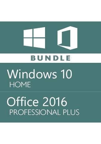 windows 10 Home + office 2016 Pro Plus - Bundle